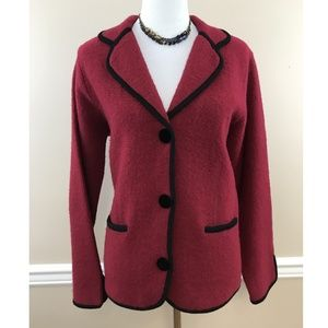 Emma James by Liz Claiborne Red Wool Blazer